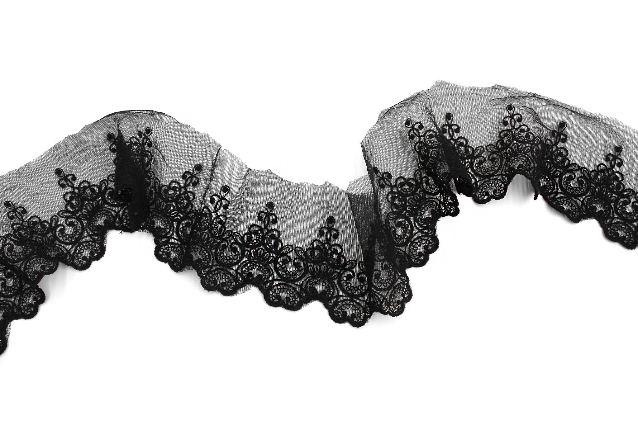 Кружево черное, 8,5 см