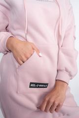 розовое худи с капюшоном фото