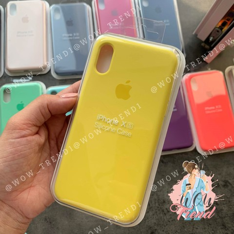 Чехол iPhone XS Max Silicone Case Full /canary yellow/ канареечный