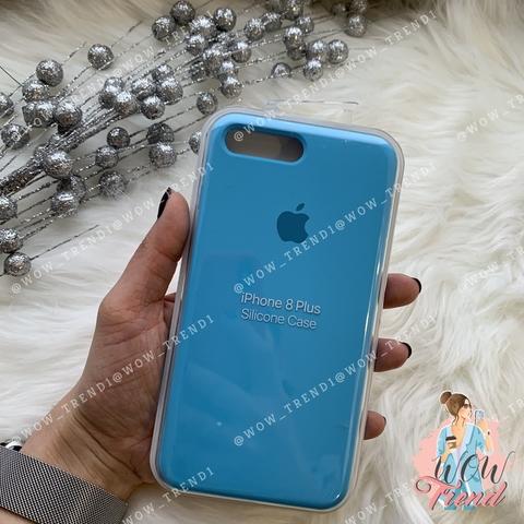Чехол iPhone 7+/8+ Silicone Case /blue/ ярко-голубой 1:1