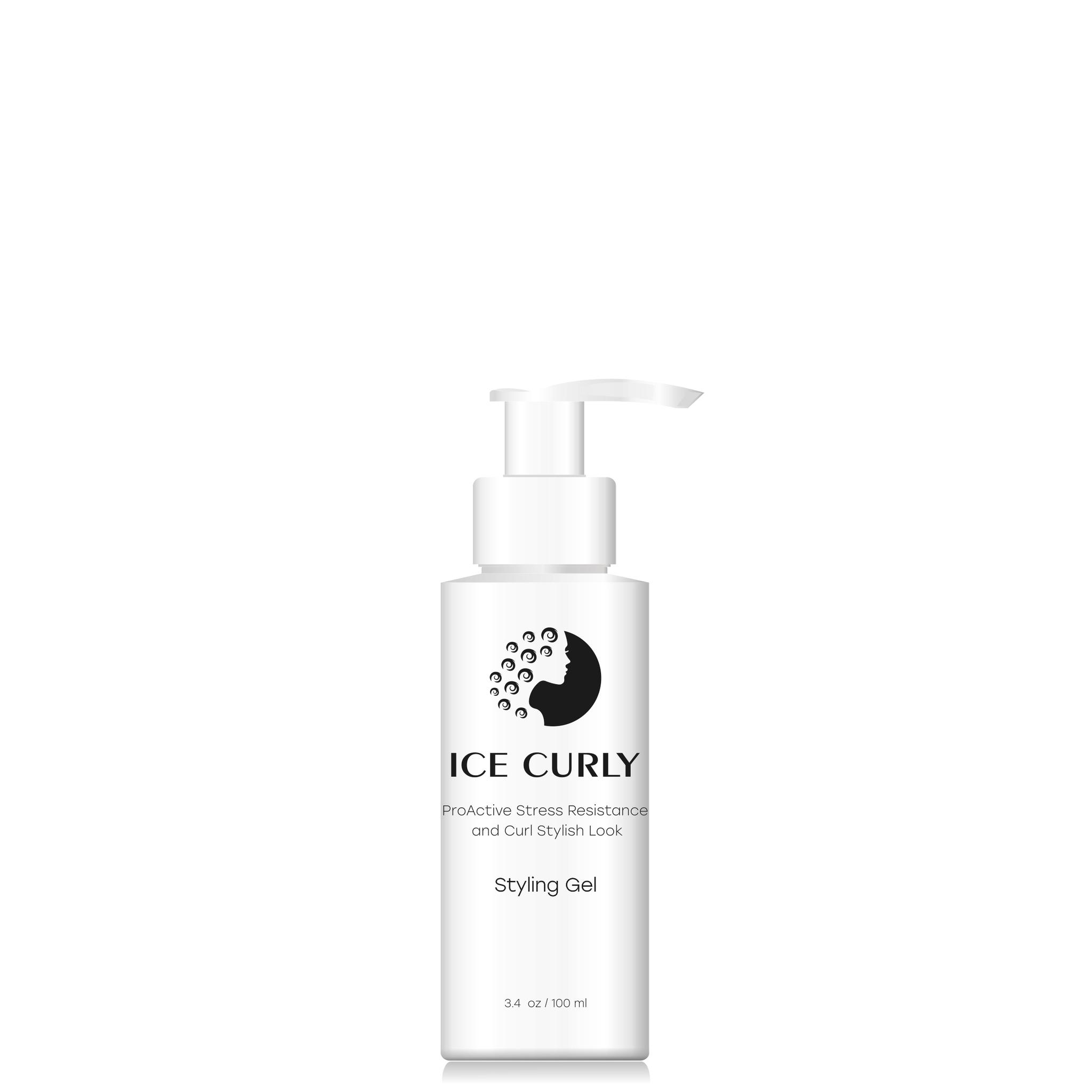ICE CURLY, гель для укладки и защиты волос от стресса, для кудрявых волос, ProActive Stress Resistance and Curl Stylish Look Styling Gel