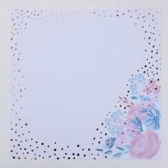 Набор бумаги для скрапбукинга с фольгированием «Букет невесты»