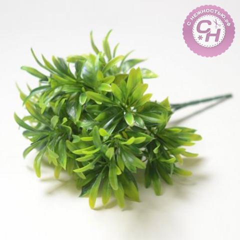 Искусственная зелень густая, букет 5 веток, 28 см.