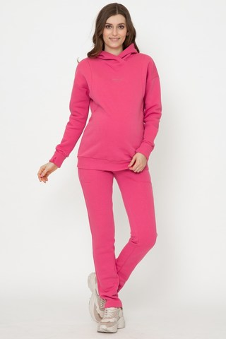 Утепленный спортивный костюм для беременных и кормящих 11885 ярко-розовый