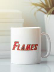 Кружка с рисунком НХЛ Калгари Флэймз (NHL Calgary Flames) белая 004