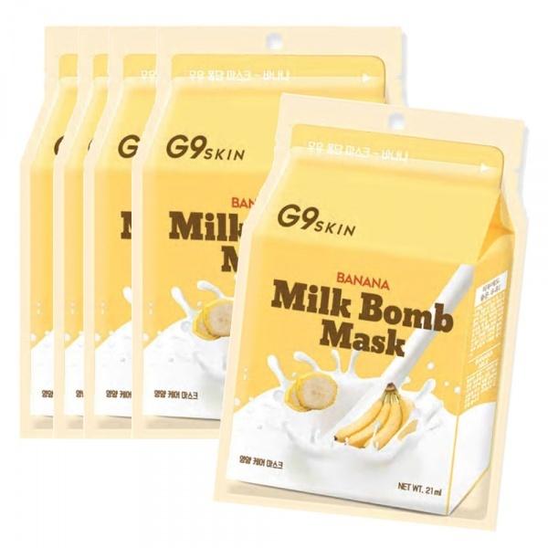 "Berrisom Маска тканевая для лица BERRISOM ""G9SKIN MILK BOMB MASK-Banana 21мл."" milk_bomb_banana_mask_g9skin.jpg"