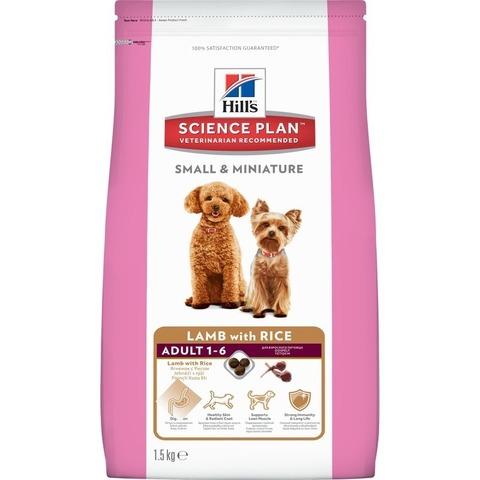 Hill's Science Plan сухой корм для взрослых собак мелких и миниатюрных пород, ягненок и рис Small & Miniature