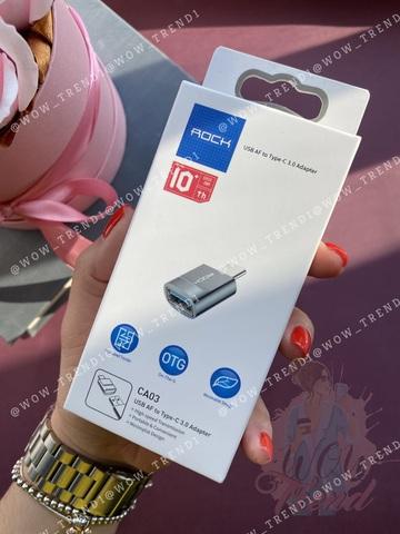 Переходник Rock USB AF to Type-C 3.0 Adapter  /gray/ CA03