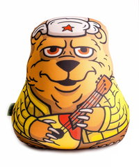 Подушка-игрушка антистресс Gekoko «Медведь с балалайкой» 2