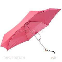 Мини зонтик Три Слона L-5605 с плоской ручкой розовый
