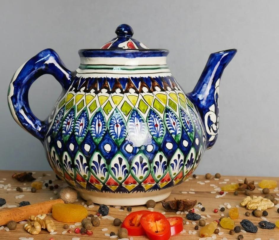Узбекская посуда Чайник с узбекской росписью ArieSYQQhNE.jpg