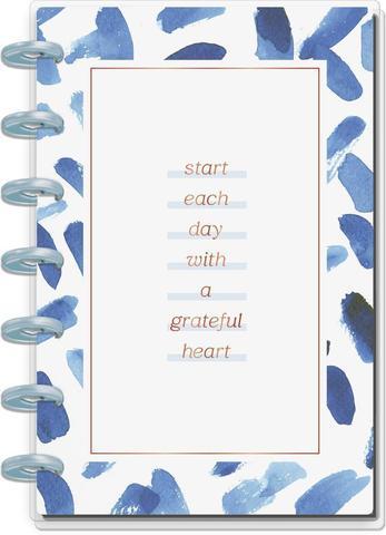 Блокнот в пунктирную линию-  Mini Happy Notes Notebook-60 л- Indigo Tie Dye