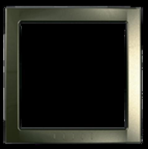 Рамка на 1 пост, декоративный элемент. Цвет Бронза. Schneider electric Unica. MGU4.000.13