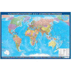 Настенная политическая карта мира 1:34 млн