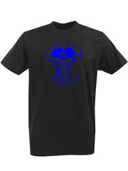 Футболка с однотонным принтом Череп (Скелет) черная 00132