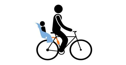 Картинка велокресло Thule Yepp Maxi Seat Post серое - 4