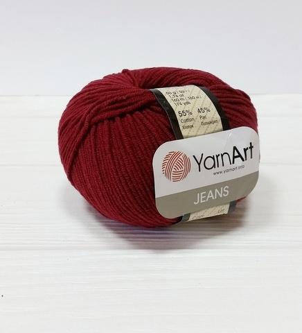 Пряжа YarnArt JEANS - (66-бордовый)