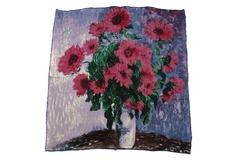 Итальянский шелковый платок с картиной Клода Моне