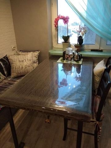 Мягкое стекло на обеденный стол ширина 90 см длина до 250см