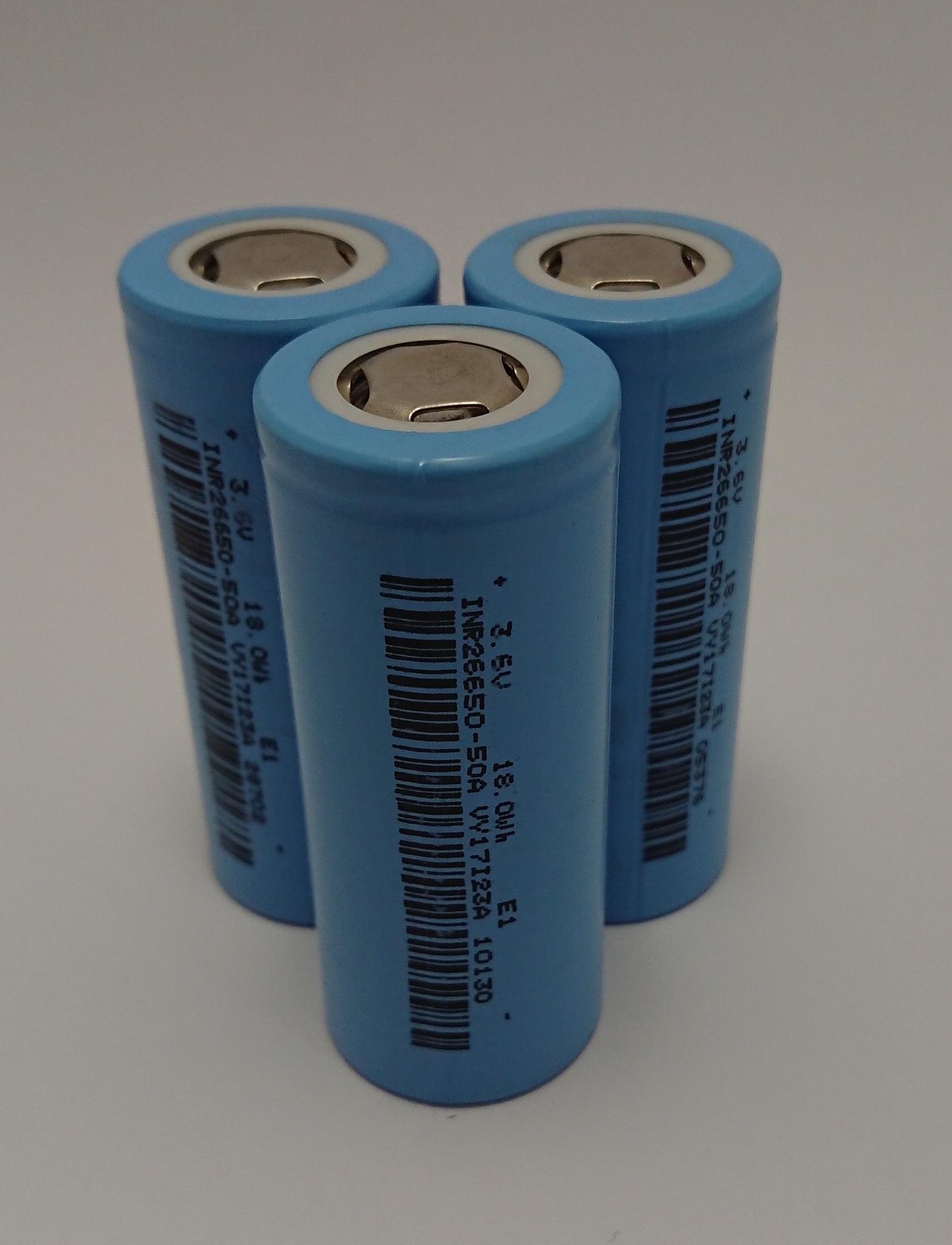 Аккумулятор INR26650 Li-Ion 5000mAh 3.6V 18Wh