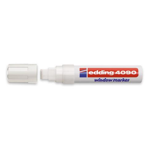 Маркер для окон Edding E-4090/049 (толщина линии 8 мм, белый, стираемый)