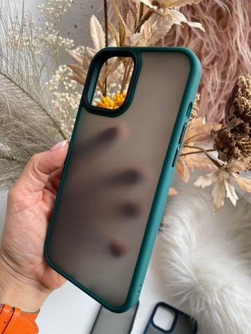 Чехол iPhone 12 Pro /6,1''/ Rock Guard Series matte /green/
