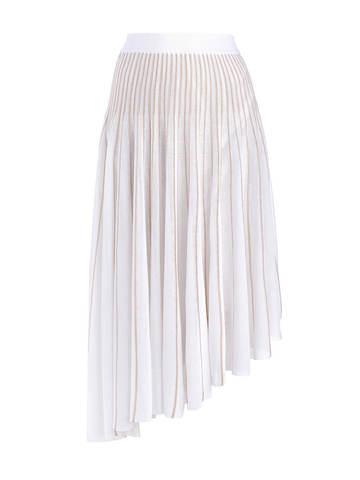 Женская юбка асимметричного кроя молочного цвета из вискозы - фото 1