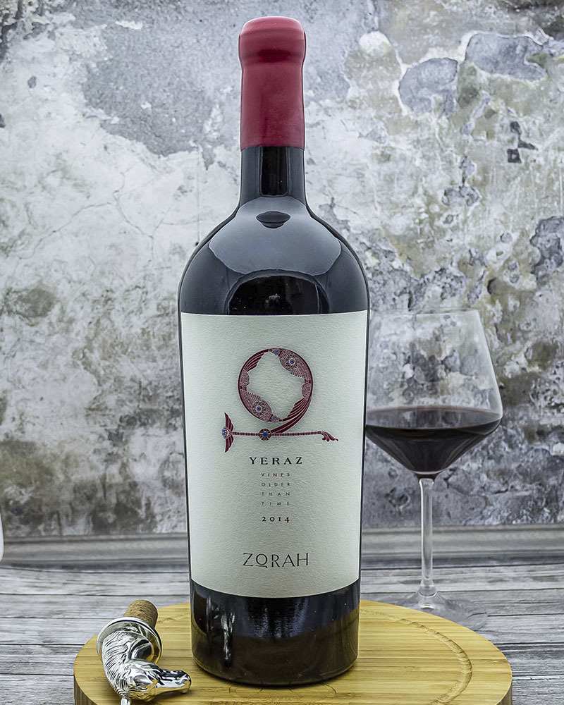 Вино Zorah Ераз Сухое Красное Выдержанное 2014 г.у. 13,5% 1,5 л.