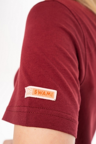 Футболка unisex Swami Endless Knot Bordeaux