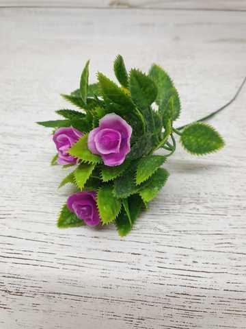 Букет розы пластиковый Рима розовый