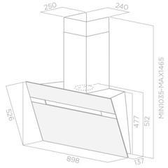 Вытяжка Elica Stripe IX/A/90 - схема