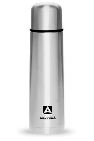 Термос Арктика (0,5 литра) с узким горлом классический, стальной