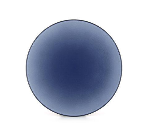 Фарфоровая обеденная тарелка Cirrus Blue 24 см, синяя, артикул 650432, серия Equinoxe