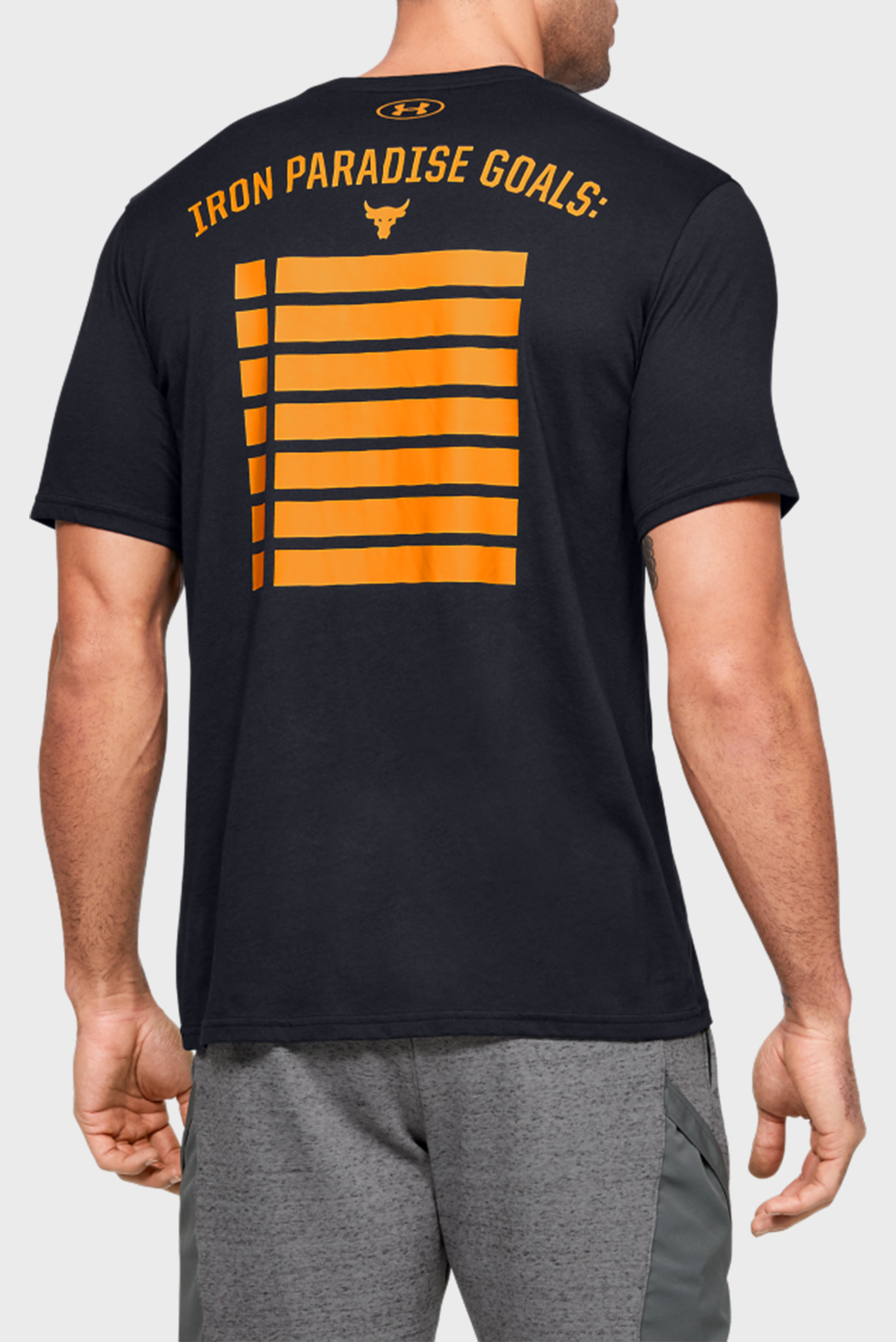 Мужская черная футболка Project Rock HWITR SS-BLK Under Armour