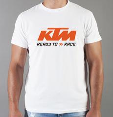 Футболка с принтом KTM (KTM AG) белая 002
