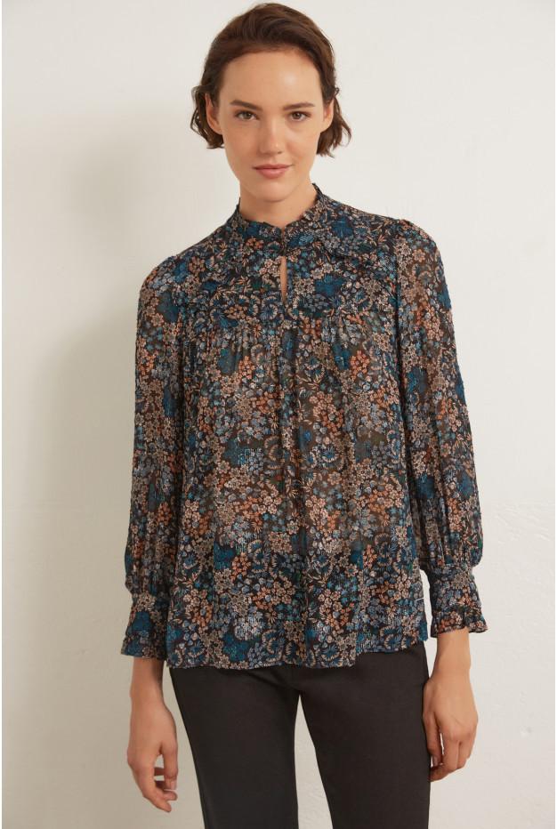 ANASTASIA - Блуза с люрексом и цветочным принтом
