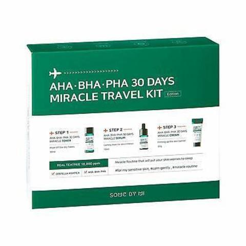 Мини-Набор Средств С Кислотами Для Проблемной Кожи SOME BY MI 30 Days Miracle Travel Kit AHA-BHA-PHA