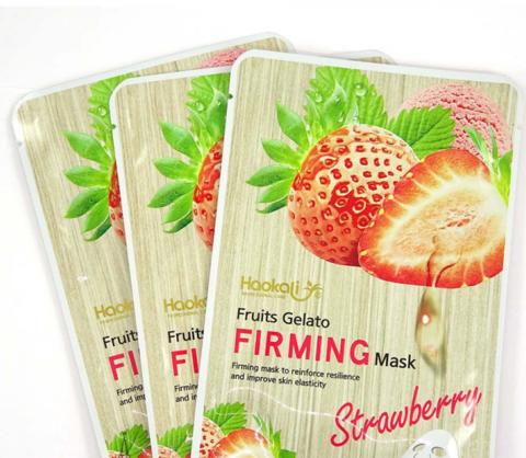 Тканевая маска для лица. Fruits gelato FIRMING mask Strawbery 25мл