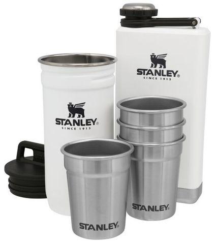 Набор подарочный Stanley Adventure (фляга 0,23 л+стопки 4 шт по 59 мл+футляр), белый