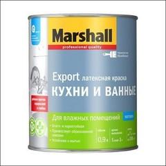 Краска в/д для стен и потолка Marshall влагостойкая BW (Белый)