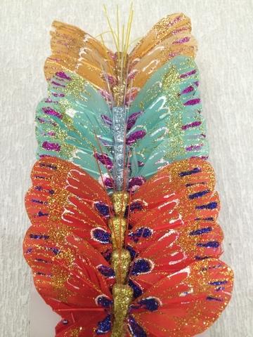 Набор бабочек № 1 из 24 штук, размер 6 см