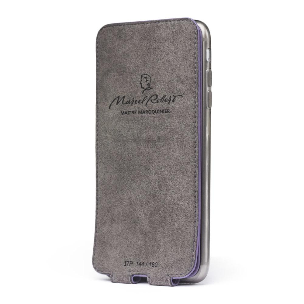 Чехол для iPhone 7 Plus из натуральной кожи теленка, фиолетового цвета
