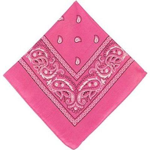Бандана с рис розовая 50х50см/А