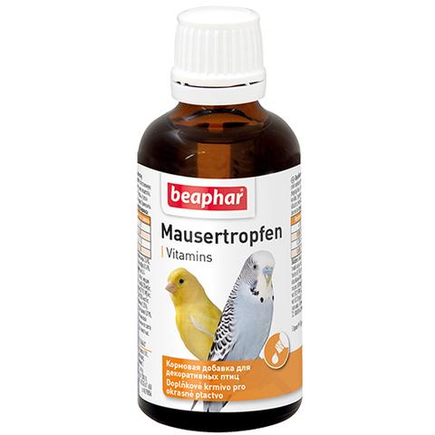 Beaphar Mauser-Tropfen витамины для птиц при недостатке витаминов и в период линьки 50мл