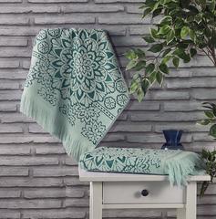 Полотенце махровое Duru (цвет: зеленый)