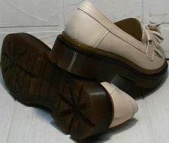 Удобные женские туфли на низком ходу Markos S-6 Light Beige.