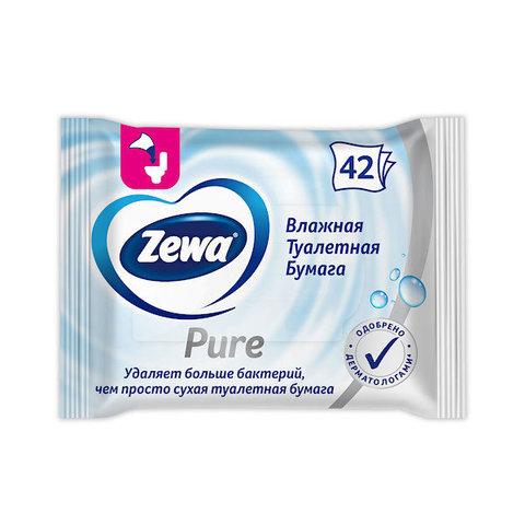 Zewa. Влажная туалетная бумага без аромата, 1 уп/42 шт