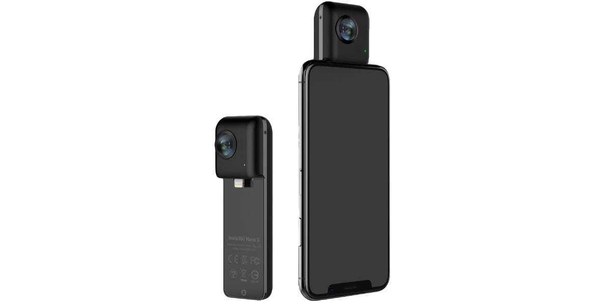 Экшн-камера Insta360 Nano S Black