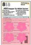 ABS-противоскользящие наклейки Regia для носков розовые цветочки (8 шт.)