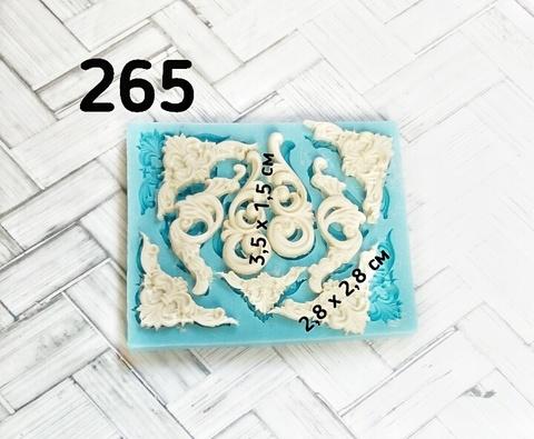 Молд Набор Вензелей 6,5х8см, Арт.PO-0265, силикон